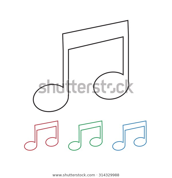 Musical Note Free Vector Icons Designed By Gregor Cresnar Vector Icon Design Vector Free Icon Design