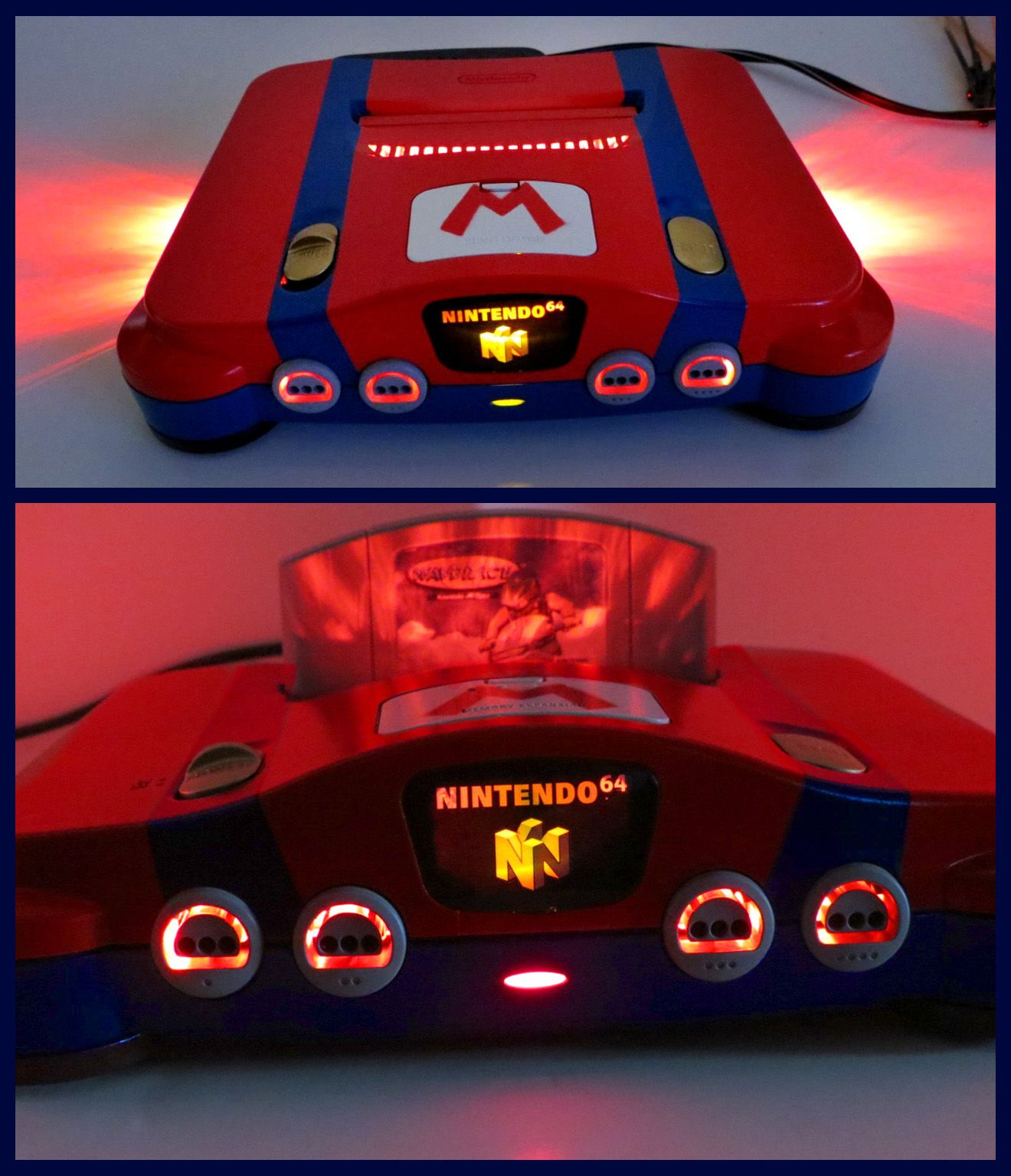 Nintendo 64 N64 Mario custom console with LEDs by