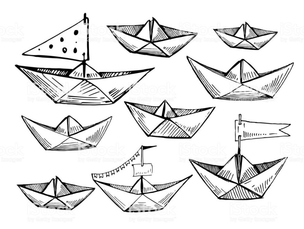 Dibujo Barco De Papel Cerca Amb Google Paper Boat Origami Boat Paper