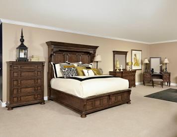 Lyla King Mansion Storage Bedroom Set Rustic Bedroom Bedroom Design Bedroom Set