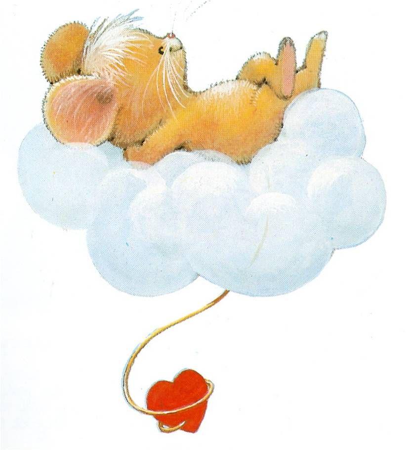девушка картинки животные спят на облаках только две