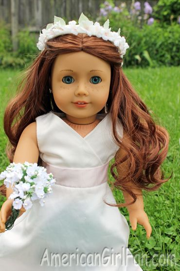 Doll Hairstyles New Saige With Flowers  American Girl Doll Hairstyles  Pinterest
