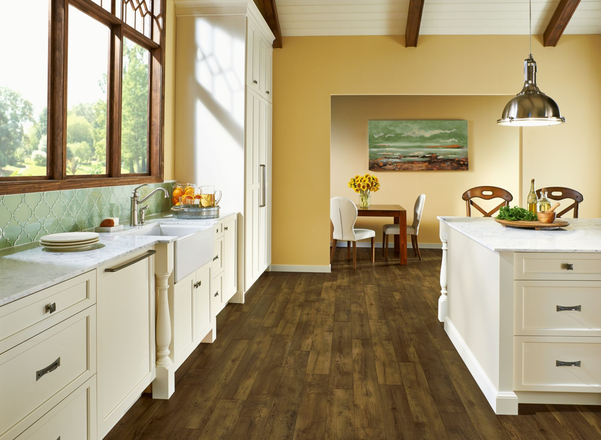 Farmhouse Plank Traditional Luxury Flooring Rugged Brown A6415 Is
