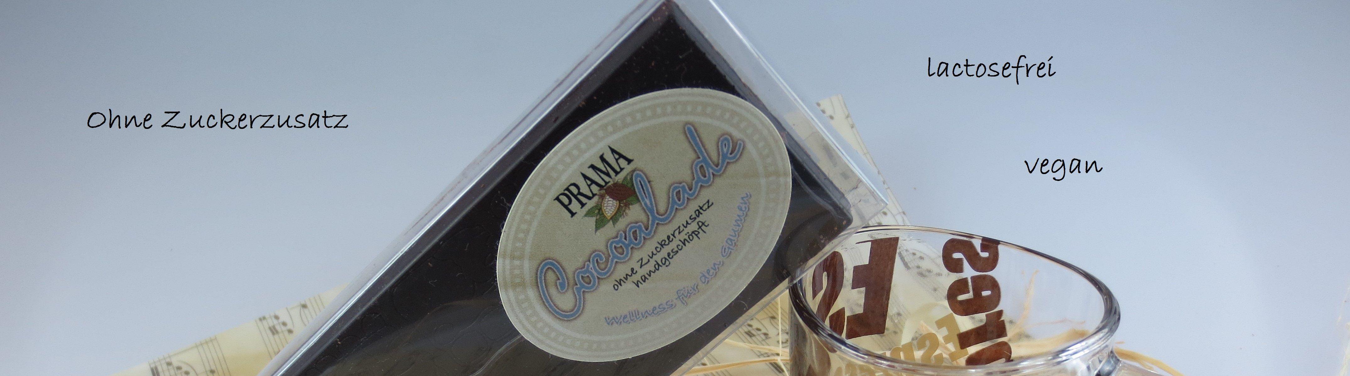 Schokolade zuckerfrei lactosefrei vegan handgemacht