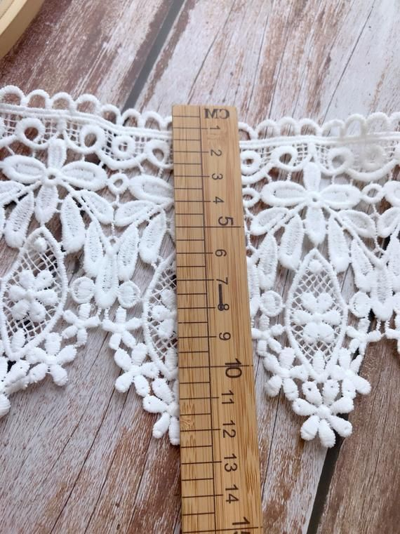 Venice Lace White Floral Scalloped Lace Trim For Lace Collar