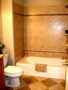 Tile Accents In Bathrooms 320 Sycamore Large Tile Bathroom Bathrooms Remodel Bathroom Design