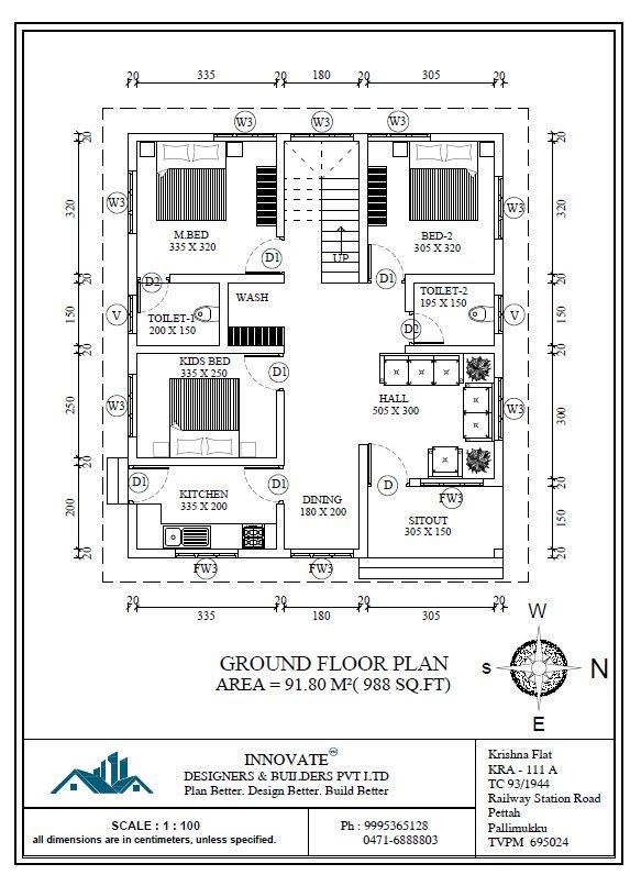 3 Bedroom Low Cost Home Design In 1073 Square Feet With Free Plan Budget House Plans 2bhk House Plan Indian House Plans