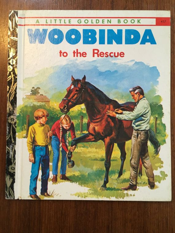 Woobinda to the Rescue  457 Little Golden Book LGB by Victor Barnes  Illustrated by Walter Stacypool Vintage 1970s Australian LGB
