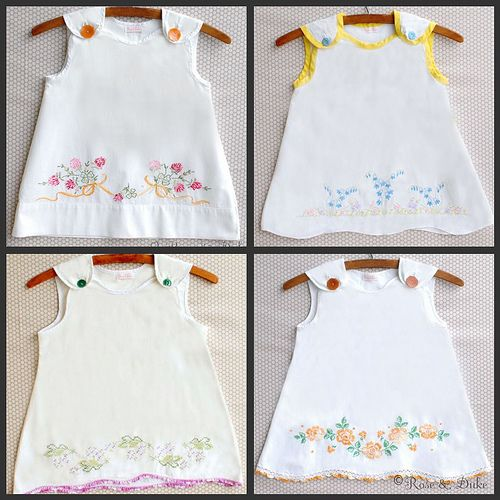 hand embroidered pillowcase dresses