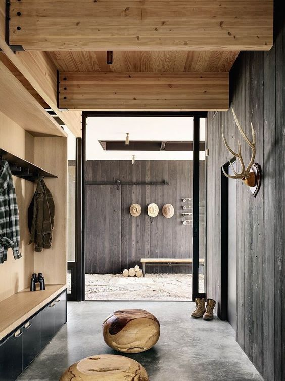 Considering Weathered Wood | ⋙ entry | Home interior design ... on sandstone home, industrial home, painted home, green home, spring home, yellow home, j.lo home, copper home, antique home, blu home,