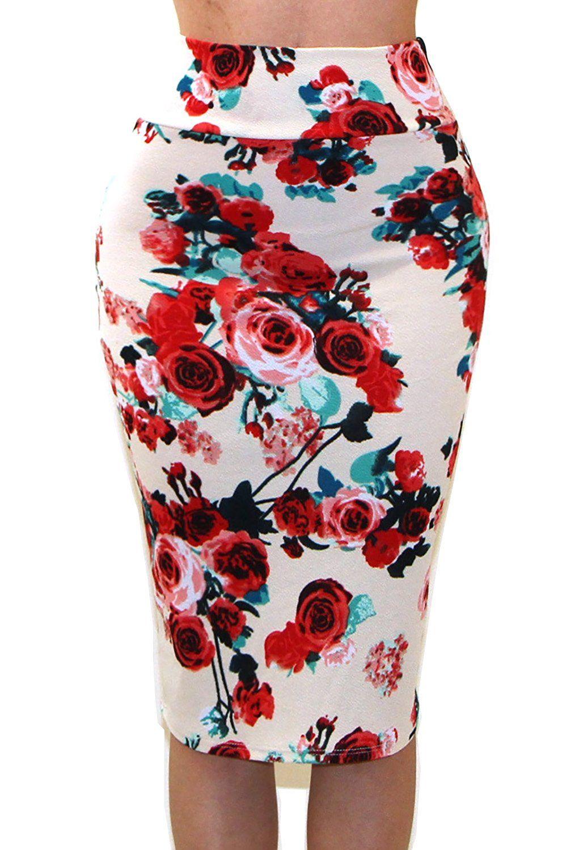 1b6991117 VIVICASTLE Women's High Waist Band Bodycon Career Office Midi Pencil Skirt  at Amazon Women's Clothing store: