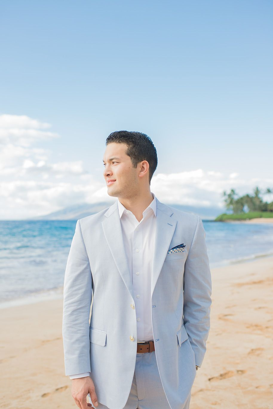 Groom Style at a Maui Beach Wedding -- A casual yet classy jacket ...