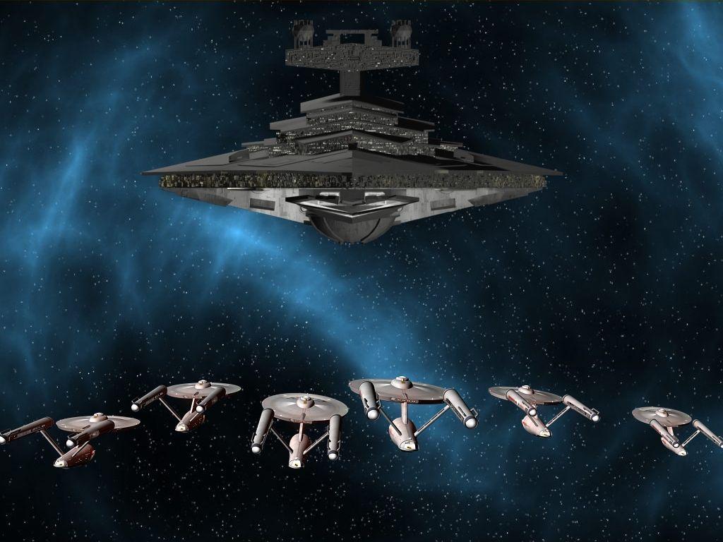 Federation Vs Empire Star Wars Ships Star Trek Starships Star Trek Ships