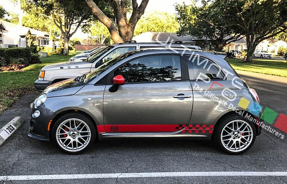 Stickers Decal Compatible With Fiat 500 Abarth Racing Stripes