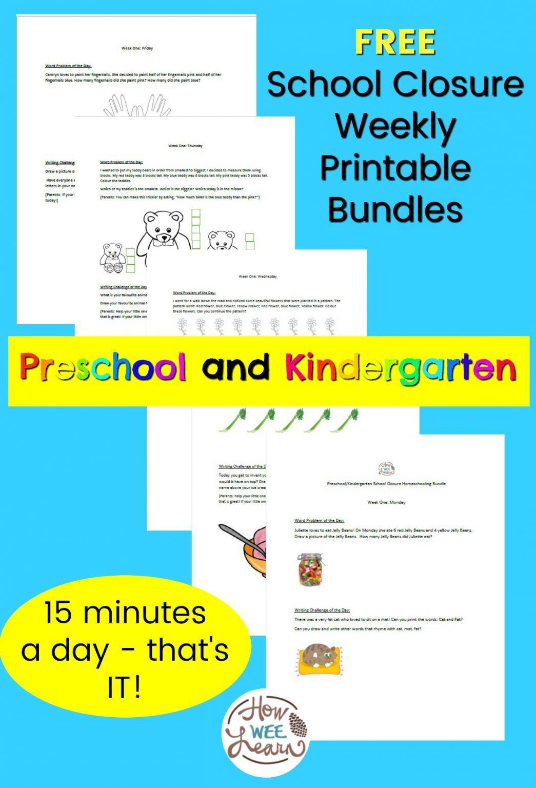 Preschool And Kindergarten School Closure Homeschooling