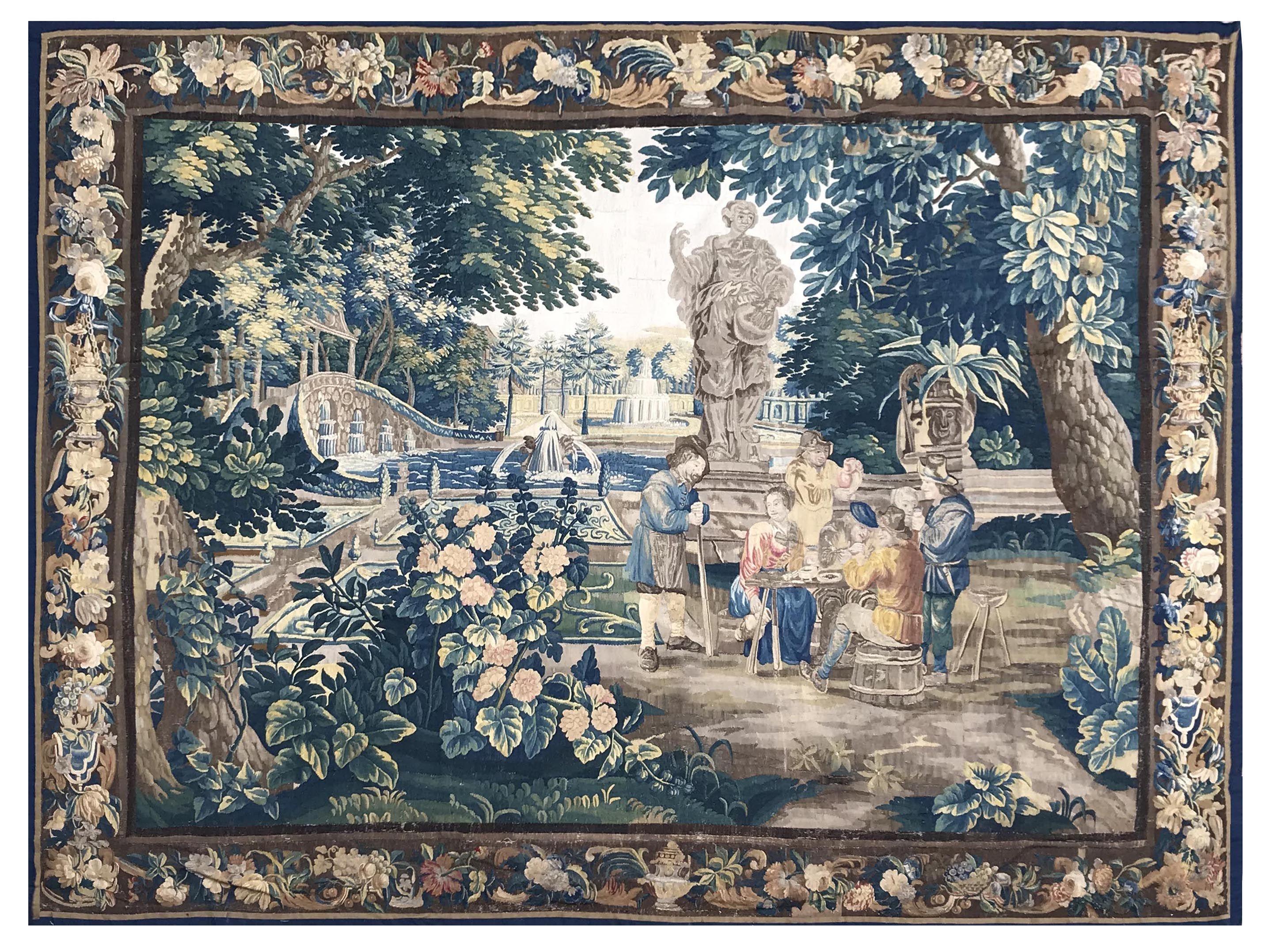 Tapisserie Des Flandres Circa 1680 D Apres David Teniers Tapisserie Tapisserie Aubusson Les Arts
