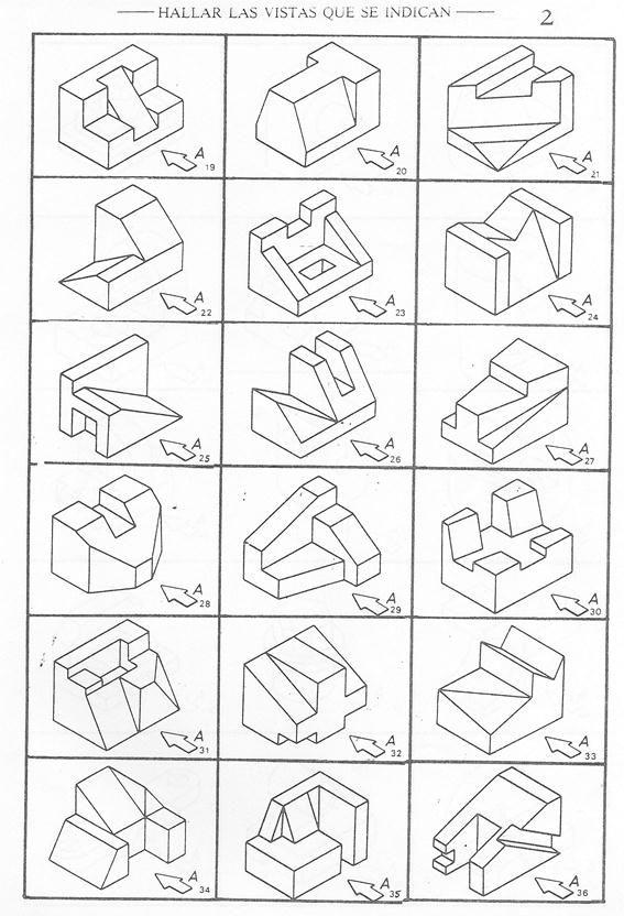 Dibujo Tecnico Basico Ejercicios De Dibujo Tecnicas De Dibujo Vistas Dibujo Tecnico