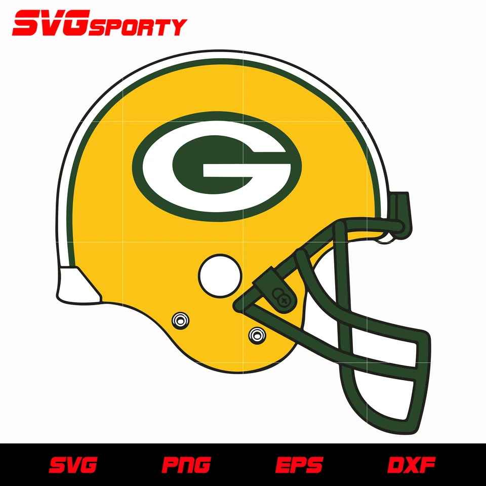 Green Bay Packers Helmet Svg Nfl Svg Eps Dxf Png Digital File In 2020 Green Bay Packers Helmet Green Bay Packers Green Bay