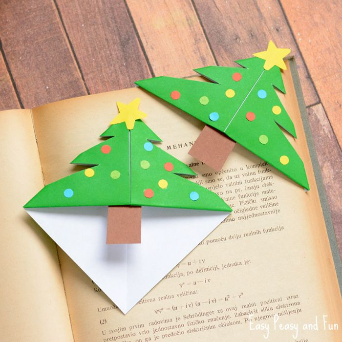 Christmas Tree Corner Bookmarks - Origami for Kids | Simple ...
