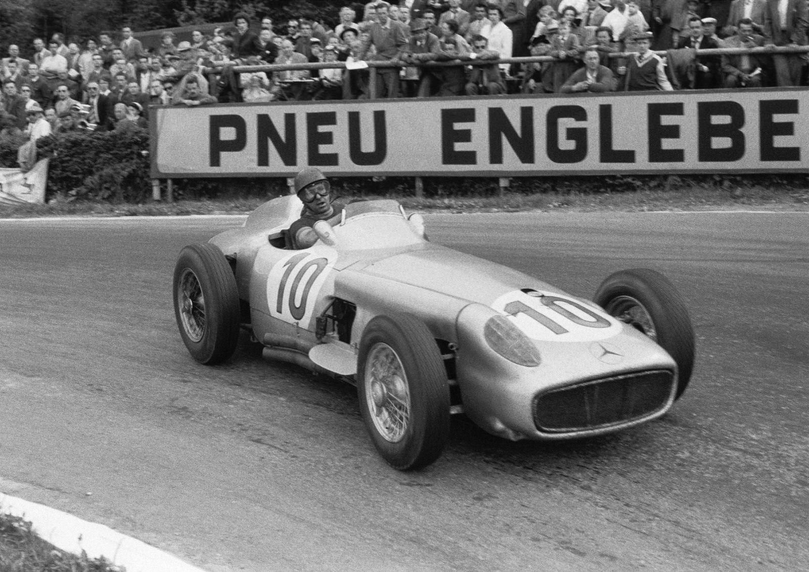 Juan Manuel Fangio and Mercedes.