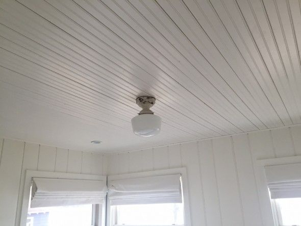 White Painted Beadboard Ceiling And Shiplap Walls All White Diy Ceiling Beadboard Ceiling Ceiling Diy Cheap