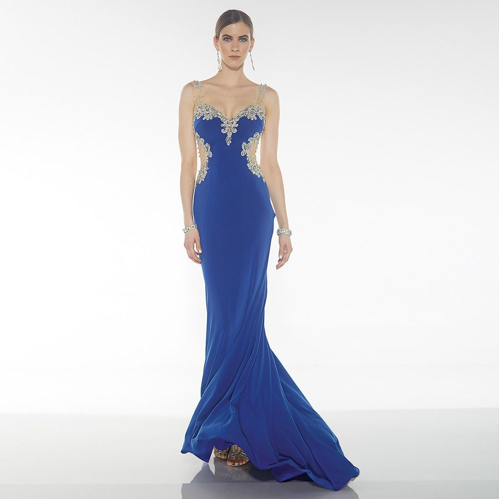 Click to buy ucuc royal blue long mermaid evening dress with luxury