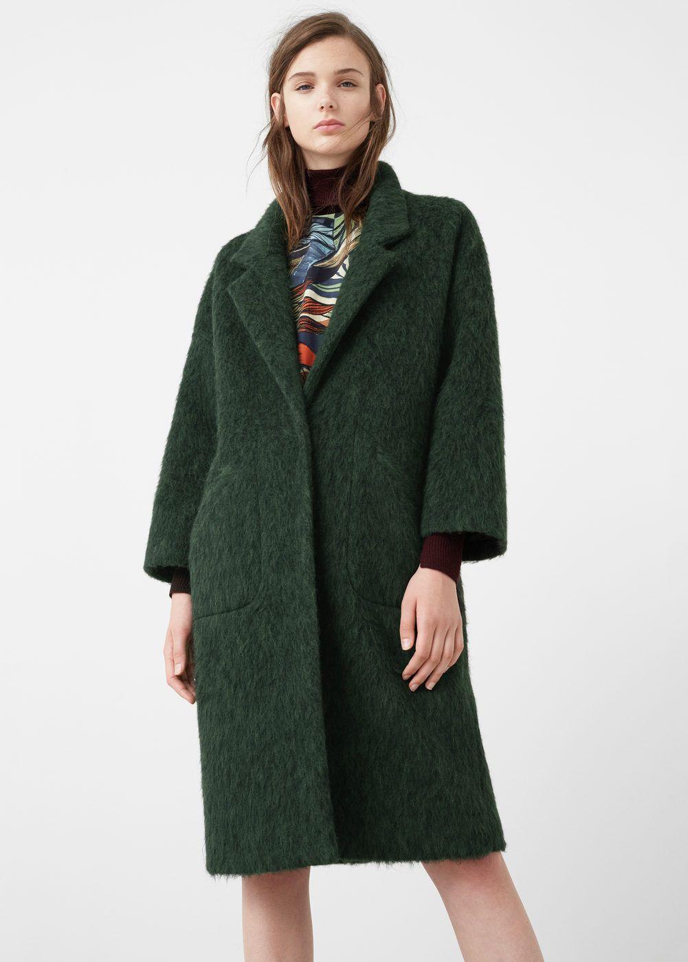 Oversize wool coat - Woman | Mango, Wool coats and Coats for women