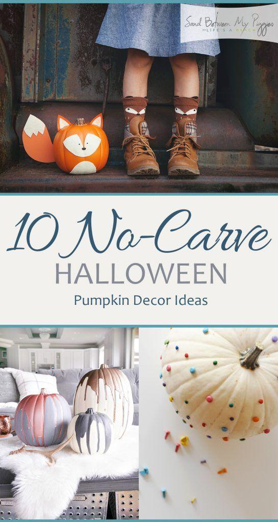 10 No-Carve Halloween Pumpkin Decor Ideas No Carve Pumpkin Ideas - halloween diy ideas