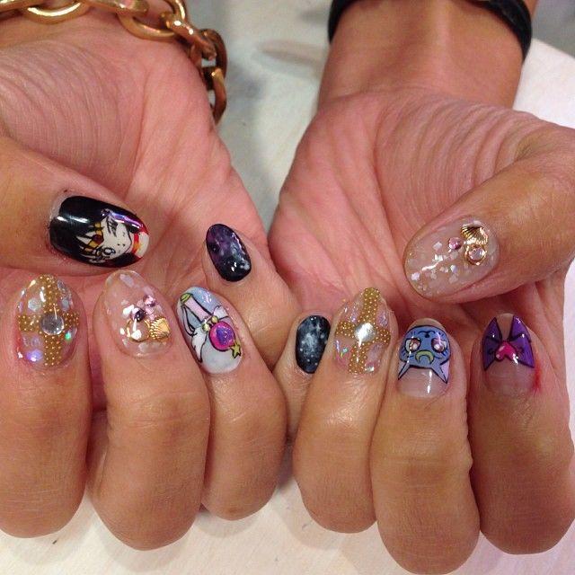 #sailormoon #sailormars #japanese #nailart #nails #naildesign #nyc