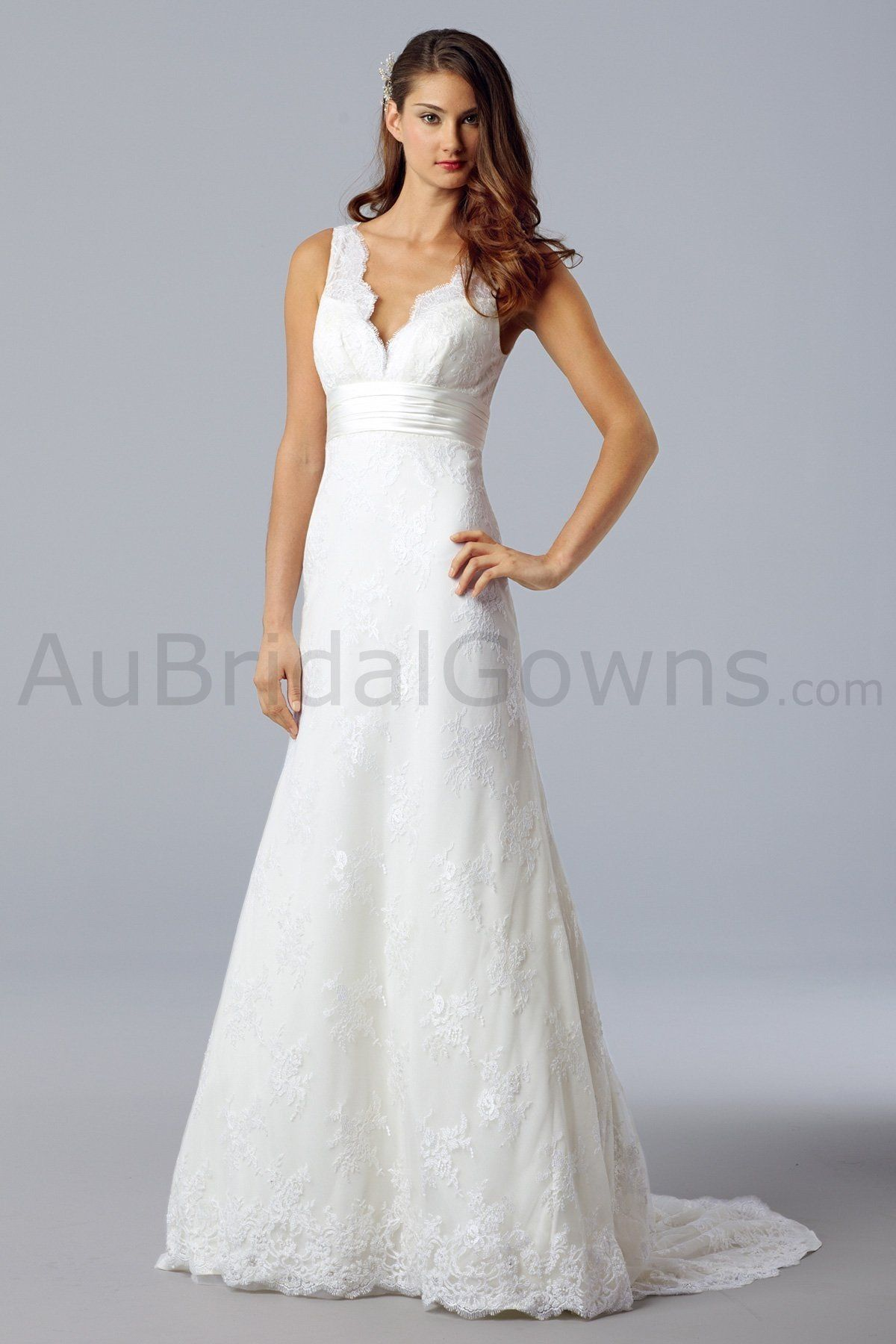 Wedding dresses wedding gowns ue aline gowns ue lace vneck