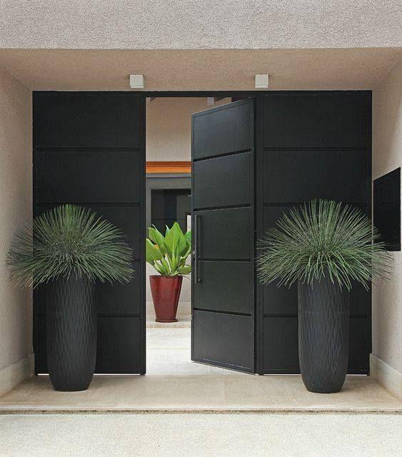 30 id es de conception d 39 entr e modernes pour votre maison doors front doors and house - Idee entry ...