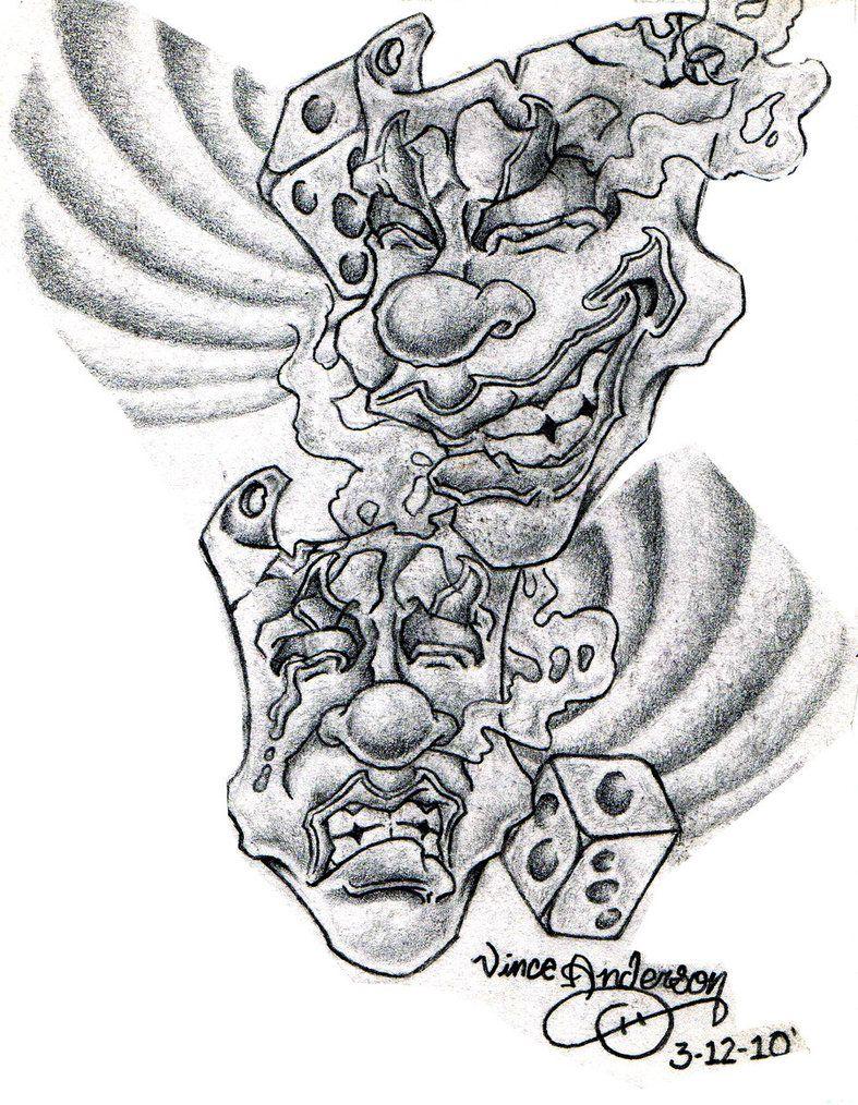 Skull Drama Face Tattoo: Female Drama Mask Tattoo Drama Masks By Hydrauliceye
