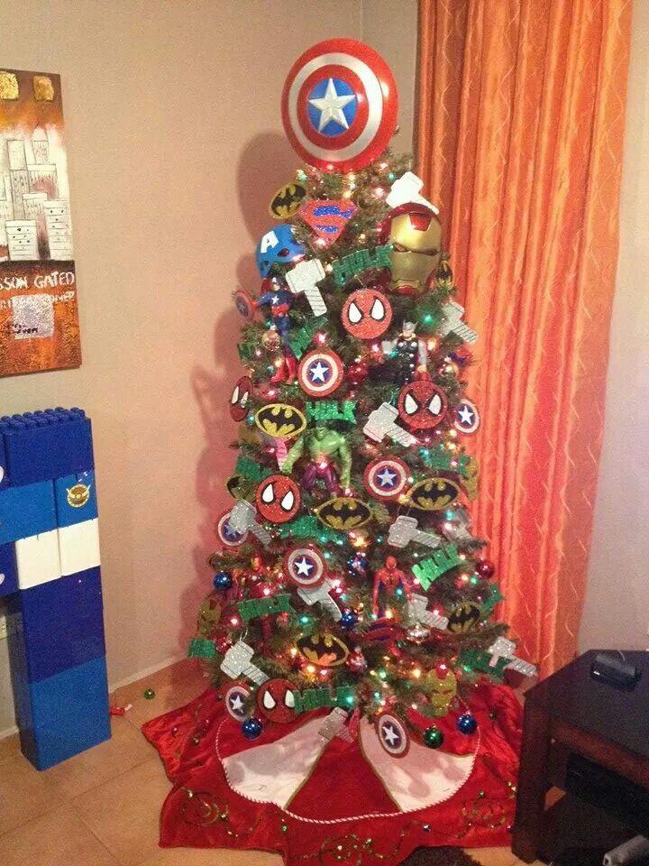 2e39e0fb43 Super heroes tree Arbol De Navidad 2017