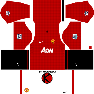 Manchester United Kits 2012 2013 Dream League Soccer Manchester United Home Kit Soccer Kits Manchester United