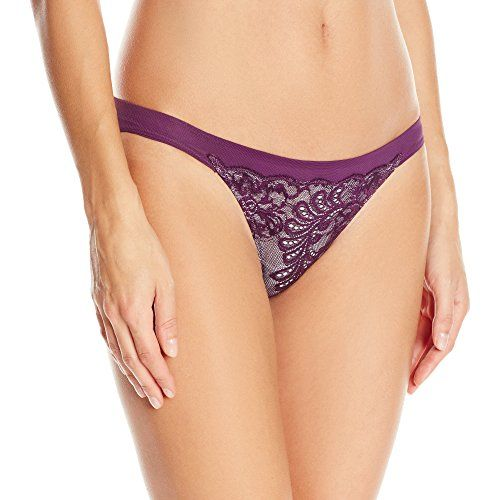 Le Mystere Womens Sophia Lace Bikini Panty Eggplnt XLarge -- Be sure to check out this awesome product.