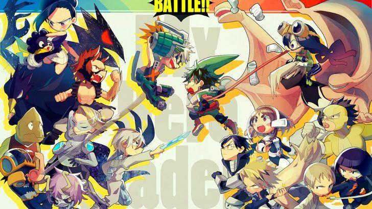 My Hero Academia Chibi Anime Battle Wallpaper By Pixiv 2808753 1920x1200 My Hero Hero My Hero Academia