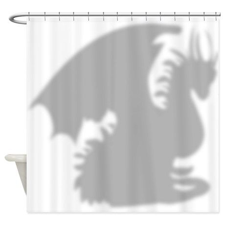 Dragon Silhouette Shower Curtain Shower Curtain By Inspirationz