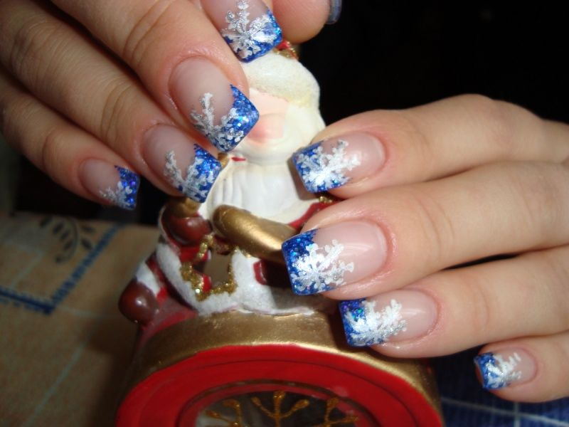 Nail Art #3037 - Best Nail Art Designs Gallery | Blue french ...