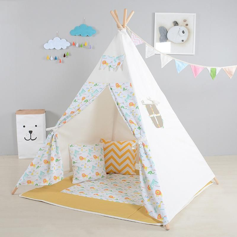 Kids Play Tent Cute Lion Pattern Playhouses For Children Indoor ...