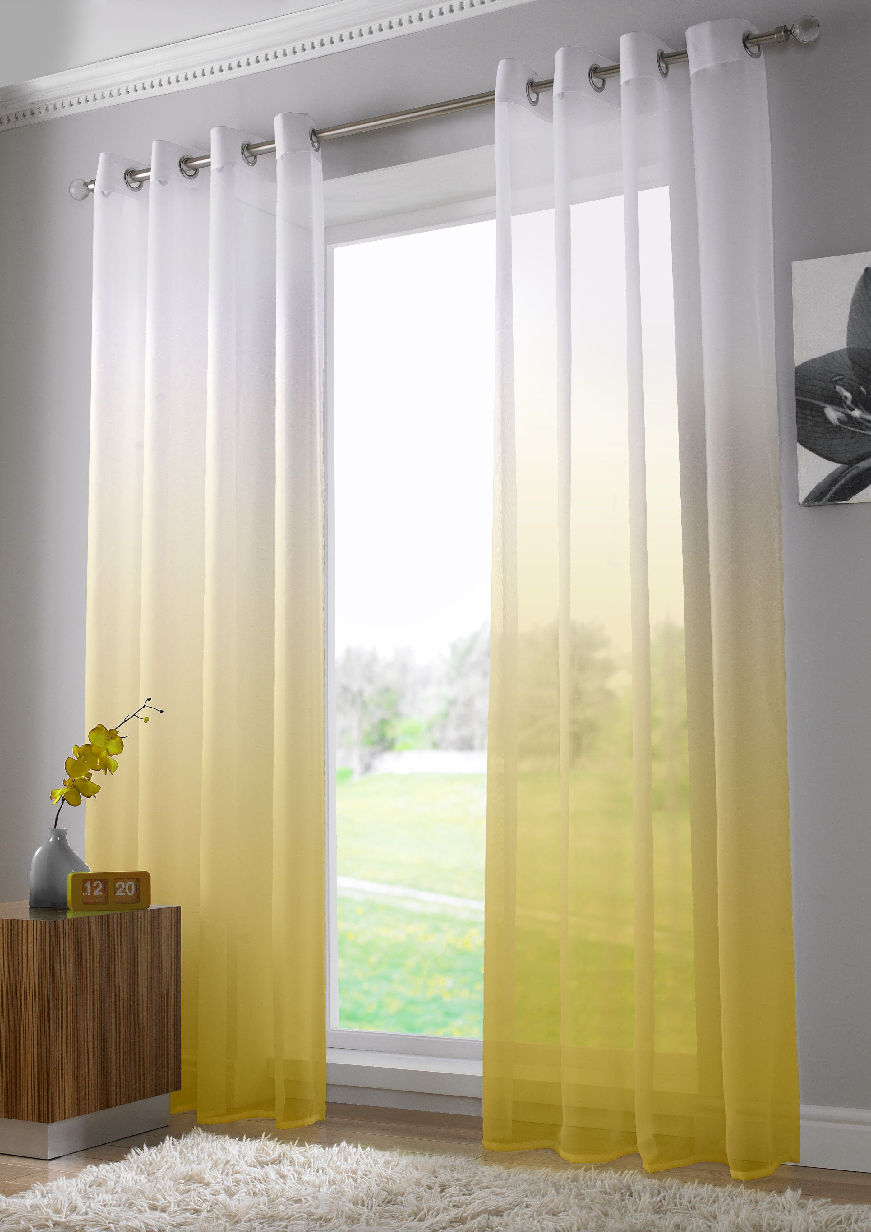 This Modern And Bright Voile Panel