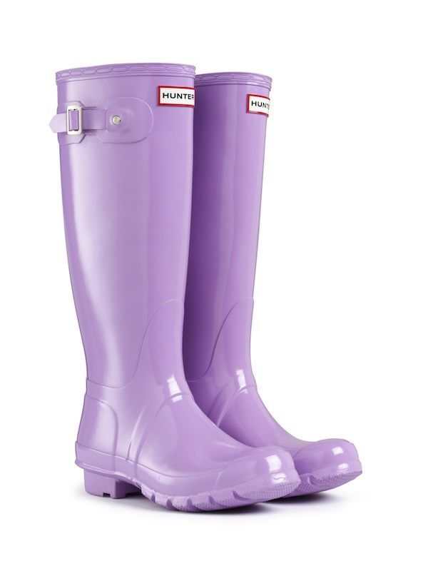 HUNTER ORIGINAL GLOSS TALL WISTERIA WELLINGTON BOOTS Welly PURPLE ebdc38c380a