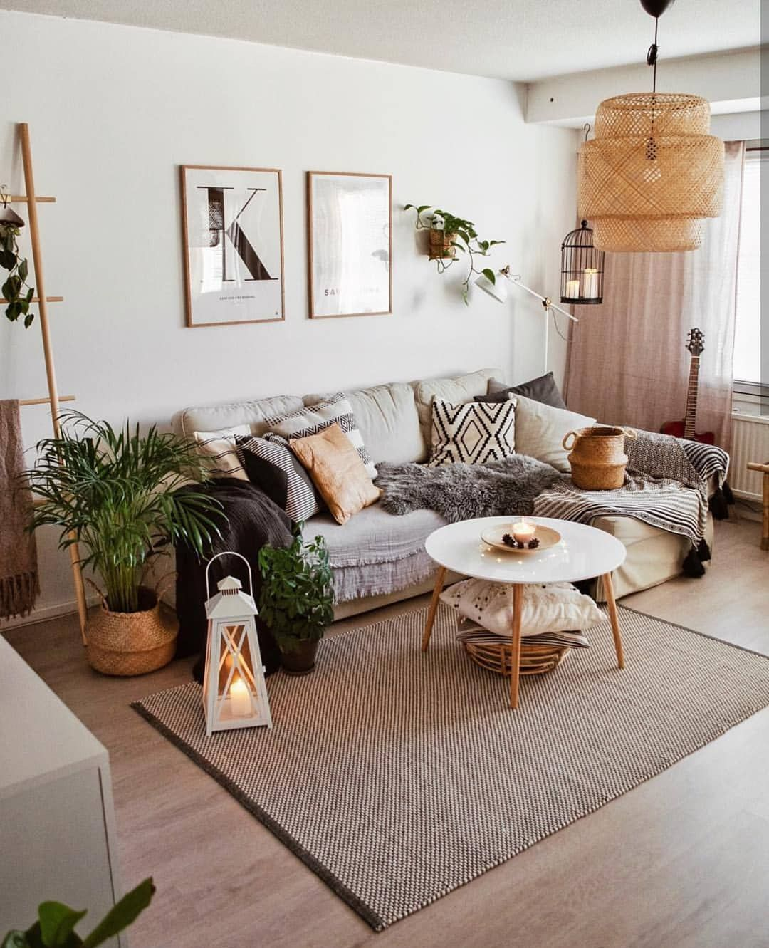 Bohemian Inspirations On Instagram Let S Talk About Neutraldecor The Earth Tones About This G Living Room Scandinavian Elegant Dorm Room Dorm Room Decor