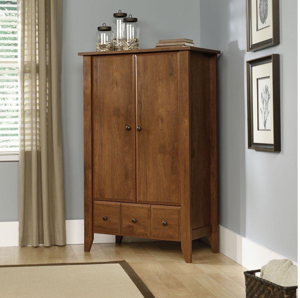 New Sauder Shoal Creek Oiled Oak Armoire Furniture #Sauder #Traditional ·  Armoire WardrobeWardrobe StorageWardrobe ClosetWooden ...
