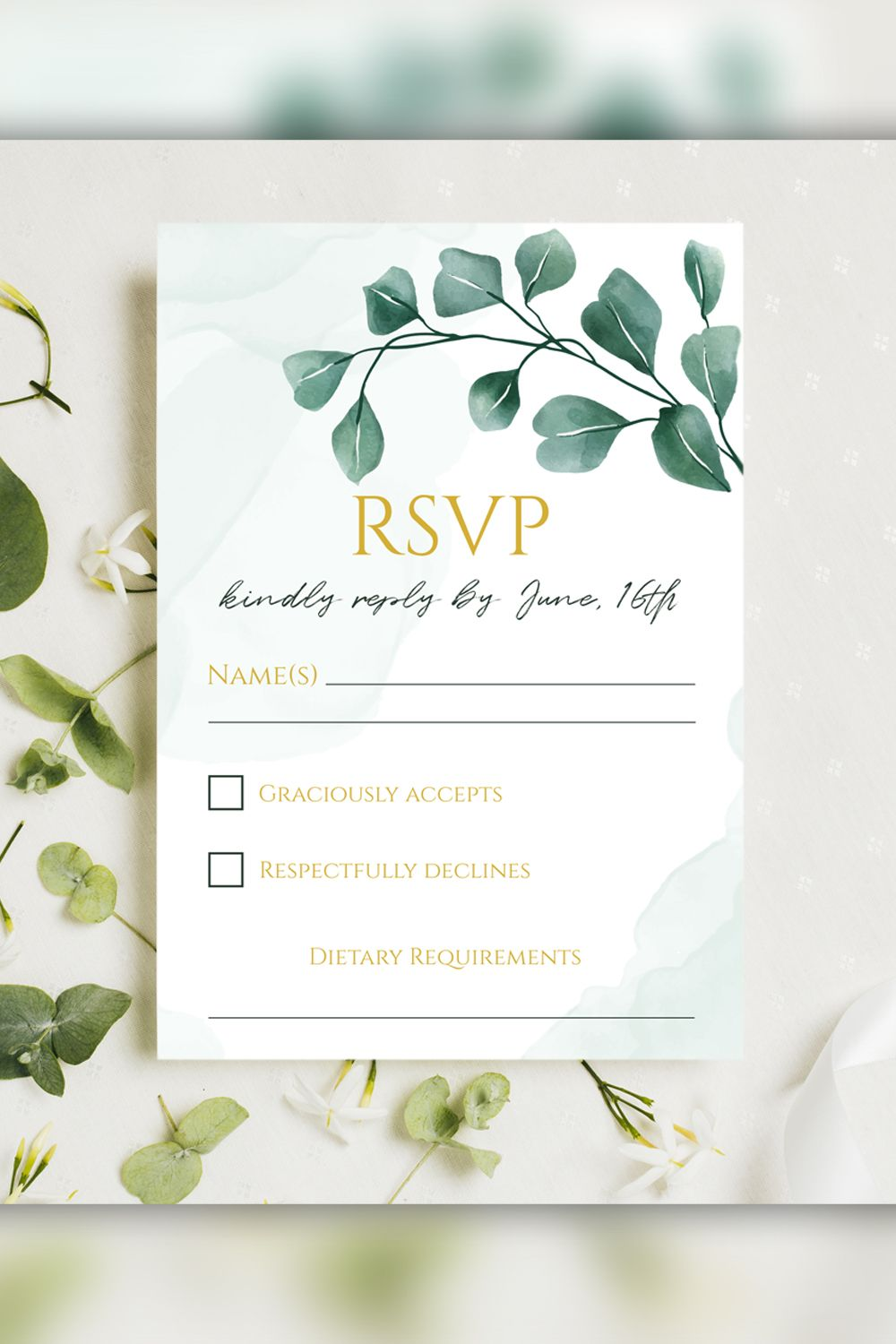 Wedding Invitation Suite Template Watercolor Wedding Greenery Eucalyptus Wedding Invite In 2020 Watercolor Wedding Invitations Wedding Cards Wedding Invitation Suite