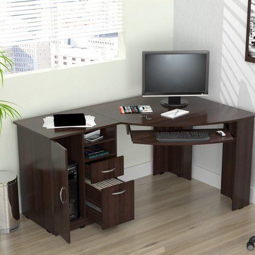 Latitude Run Durango Computer Desk Computer Desk With Shelves Corner Desk Home Office Design