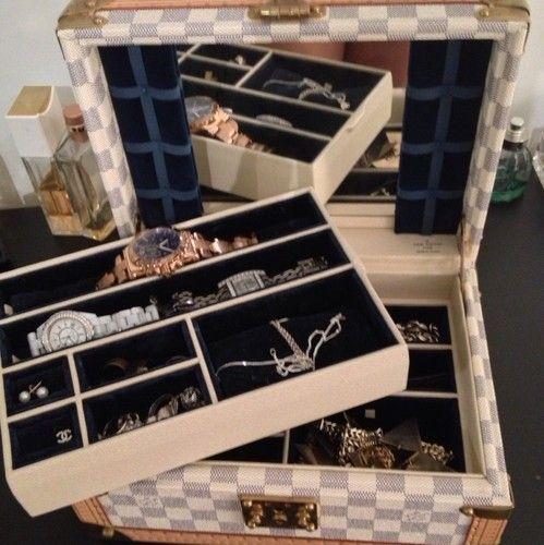 Louis Vuitton Damier Jewellery Jewelry Box Trunk Case Custom