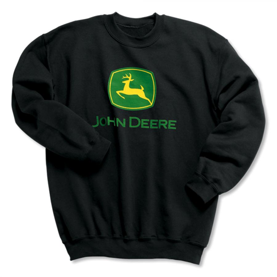John Deere Black Crew Neck Sweatshirt Sweatshirts