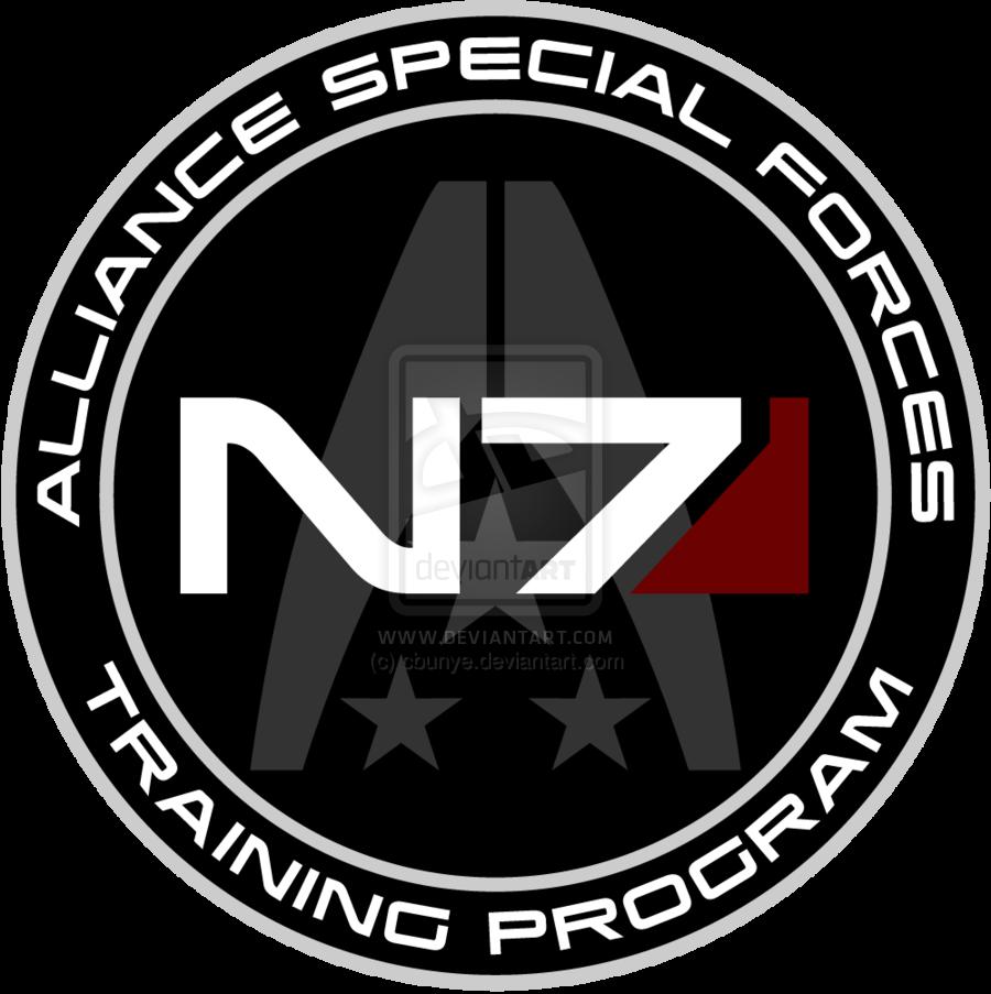 Mass Effect N7 Training Program Custom Logo By Cbunye Deviantart Com On Deviantart Mass Effect Mass Effect Art Mass Effect Universe