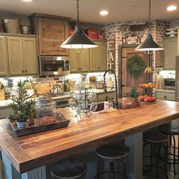 35 Awesome Farmhouse Kitchens Design Ideas Ide Dekorasi Rumah