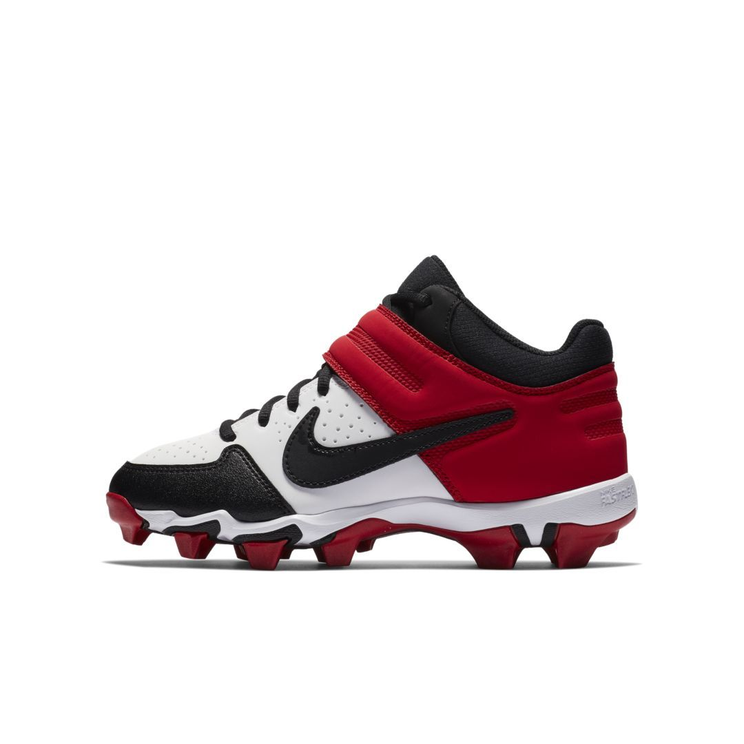 0f263c6eb8a38 Nike Alpha Huarache Varsity Keystone Mid Big Kids  Baseball Cleat Size 6Y ( White)